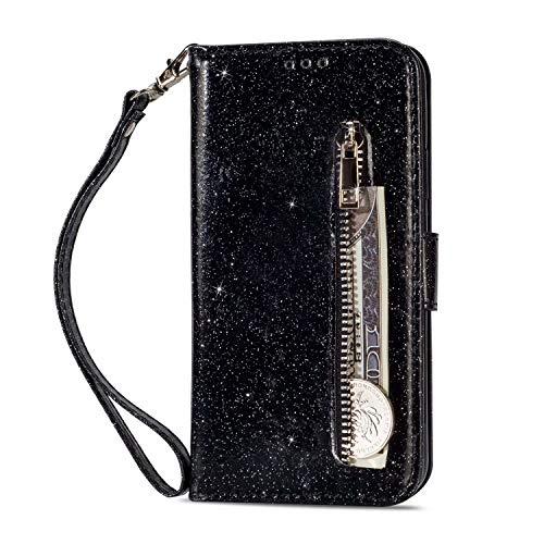 Miagon per Xiaomi Redmi 9A Portafoglio Custodia,Bling Luccichio Pelle Casio con Porta Carte Flip Chiusura Magnetica Copertura con Tasca Wallet Cover