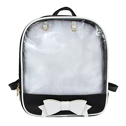 SteamedBun Ita Bag Backpack Bowknot Kawaii Transparent Window Candy Color Pins Bag