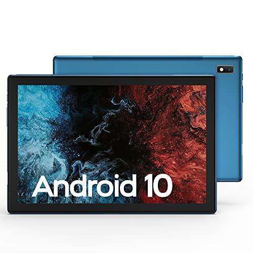 Tablet 10 Pollici, 4G LTE + 5G WiFi, Android 10 VASTKING KingPad K10, 3GB RAM + 32GB ROM, 512GB Espandibili, Octa-Core, 1920*1200, Fotocamera 13MP/Face ID/GPS, Corpo Totalmente in Metallo, Blu Zaffiro