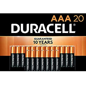 Duracell - CopperTop AAA Alkaline Batteries - long lasting, all-purpose Triple A battery for household and business - 20 Count from Duracell