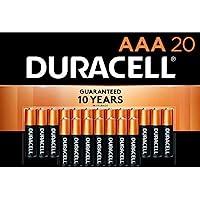 20-Count Duracell CopperTop AAA Alkaline Batteries