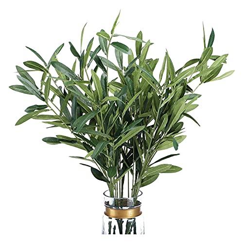 YMDA Hojas de Oliva Artificiales, Ramas de Plantas Falsas eucaliptos, para arreglos Florales, jarrón, Ramos, Bodas, vegetación decoración