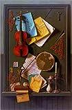 Poster 61 x 91 cm: Die alte Schranktür von William Michael Harnett/Bridgeman Images - hochwertiger Kunstdruck, neues Kunstposter