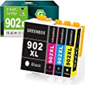 GREENBOX Compatible Ink Cartridges Replacement for HP 902XL 902 XL