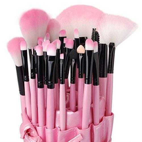 Xgeek 1 Set(32 pezzi) Pennelli Cosmetico Professionale Rosa per Ombretto Trucco