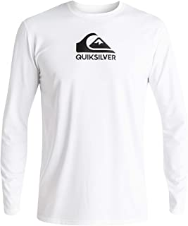 Men's Solid Streak Long Sleeve Rashguard UPF 50+ Sun...