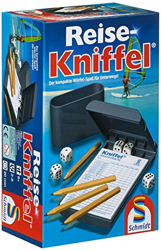 Schmidt Spiele 49091 Reise-Kniffel mit Zusatzblock, bunt