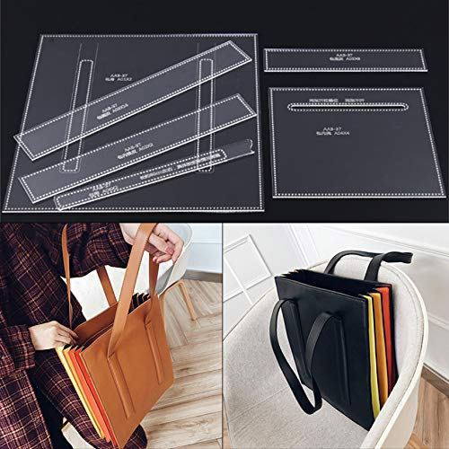 NW AAB-37 Tote Bag Acrylic Template Leather Pattern Handbag Acrylic Leather Pattern Leather Templates for Bags