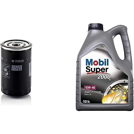 Original Mann Filter Ölfilter W 719 30 Für Pkw Und Nutzfahrzeuge Mobil Motorenöl Super 2000 X1 10w 40 5l Auto