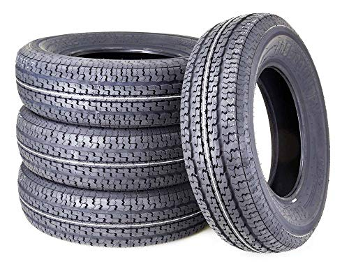 Set of 2 WINDA PremiumTrailer Tires ST205//75R14 8PR Load Range D Steel Belted w//Scuff Guard