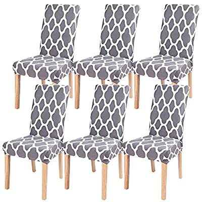 Amazon - Save 50%: SearchI 6 Pack Super Fit Stretch Removable Washable Short Dining C…