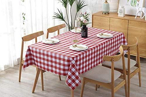 Traann Plastic tafelkleden afwasbaar, vierkant wipe schoon tafelkleed vinyl PVC landelijke idylle 140*140