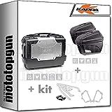 kappa maleta kgr33 + maletas laterales k22n + portaequipaje monokey + portamaletas lateral monokey compatible con triumph bonneville t100 2020 20