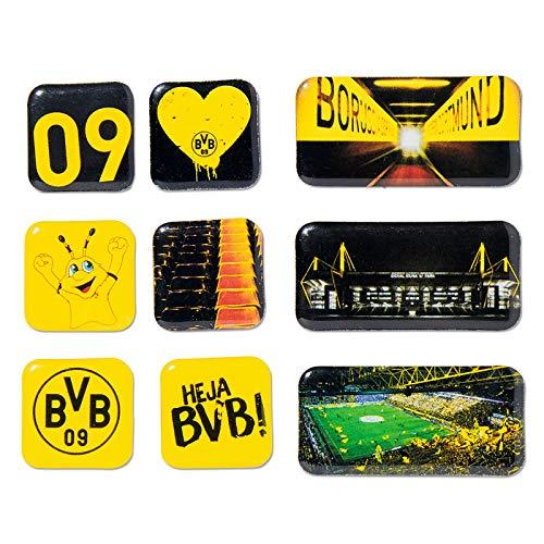 Borussia Dortmund Unisex Bvb-magnet Set Magnet, Schwarz/gelb, verschiedene Gr en EU