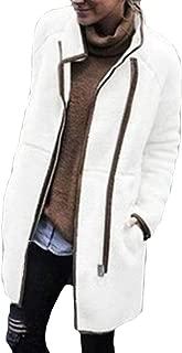 Women Winter Warm Open Front Fleece Fluffy Outwear with Pockets