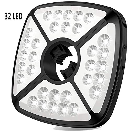 Amir Rechargeable Patio Umbrella Lights Cordless 24 LED Umbrella Lights Camping Tents and other Outdoor Use Umbrella Pole Light 3 Level Dimming Outdoor Camping Tent Lights for Patio Umbrellas