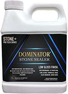 1 Quart DOMINATOR Stone+, Low Gloss Stone Sealer and Clay Brick Sealer (Wet Look), Commercial Grade, Water Based, Color Enhancing, Easy Application