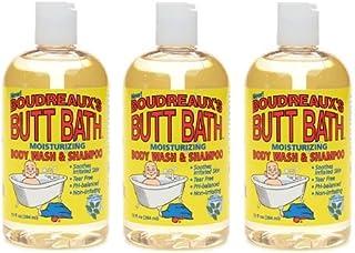 Boudreaux`s Butt Bath Gentle Cleansing Gel, 13 Ounce (Pack of 3)