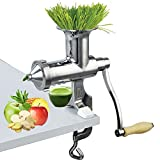 Happybuy Wheatgrass Extractor Portable Wheatgrass Juicer with 3 Sieves Wheatgrass Juicers Manual...
