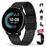GOKOO Smartwatch Donna e Uomo,Orologio Fitness con Molteplici Modalità Sportive Sport Watch Tracker Activity Cardiofrequenzimetro Intelligente Bracciale con salute Monitor del Sonno per IOS Android.