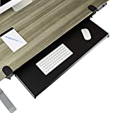Seville Classics Clamp Sliding Extra-Wide Shelf Airlift 360 Keyboard Tray Computer Desk Accessory, 31.5', Pure Black