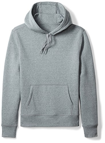 Amazon Essentials Men's Hooded Fleece Sweatshirt, Light Grey Heather, Large