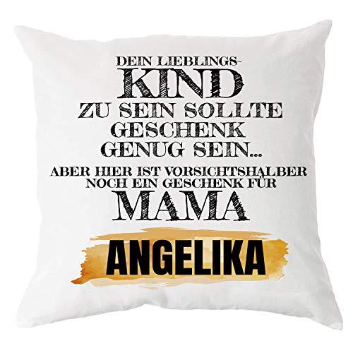 Personalisiertes Foto-Kissen für Mama mit Wunsch-Namen   Lieblingskind   Deko-Kissen Sofa-Kissen, Zierkissen mit Füllung   Sofa Bett Überwurf