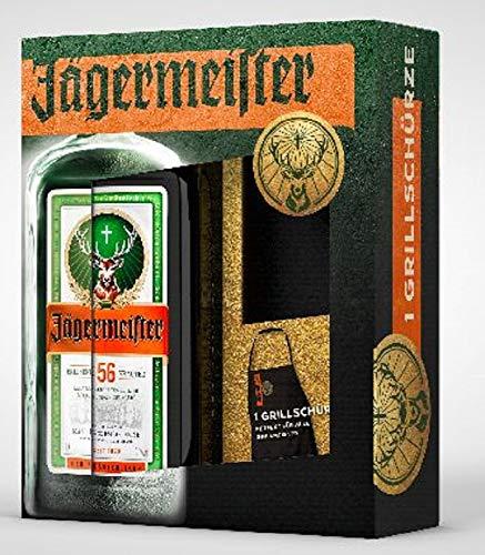 Mast-Jägermeister Kräuterlikör 0,7 Liter Geschenkset mit Grillschürze