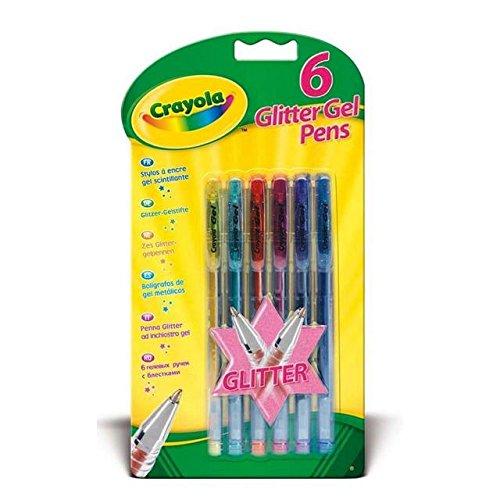 Gel Crayola por paquete 6 bolígrafos de brillo