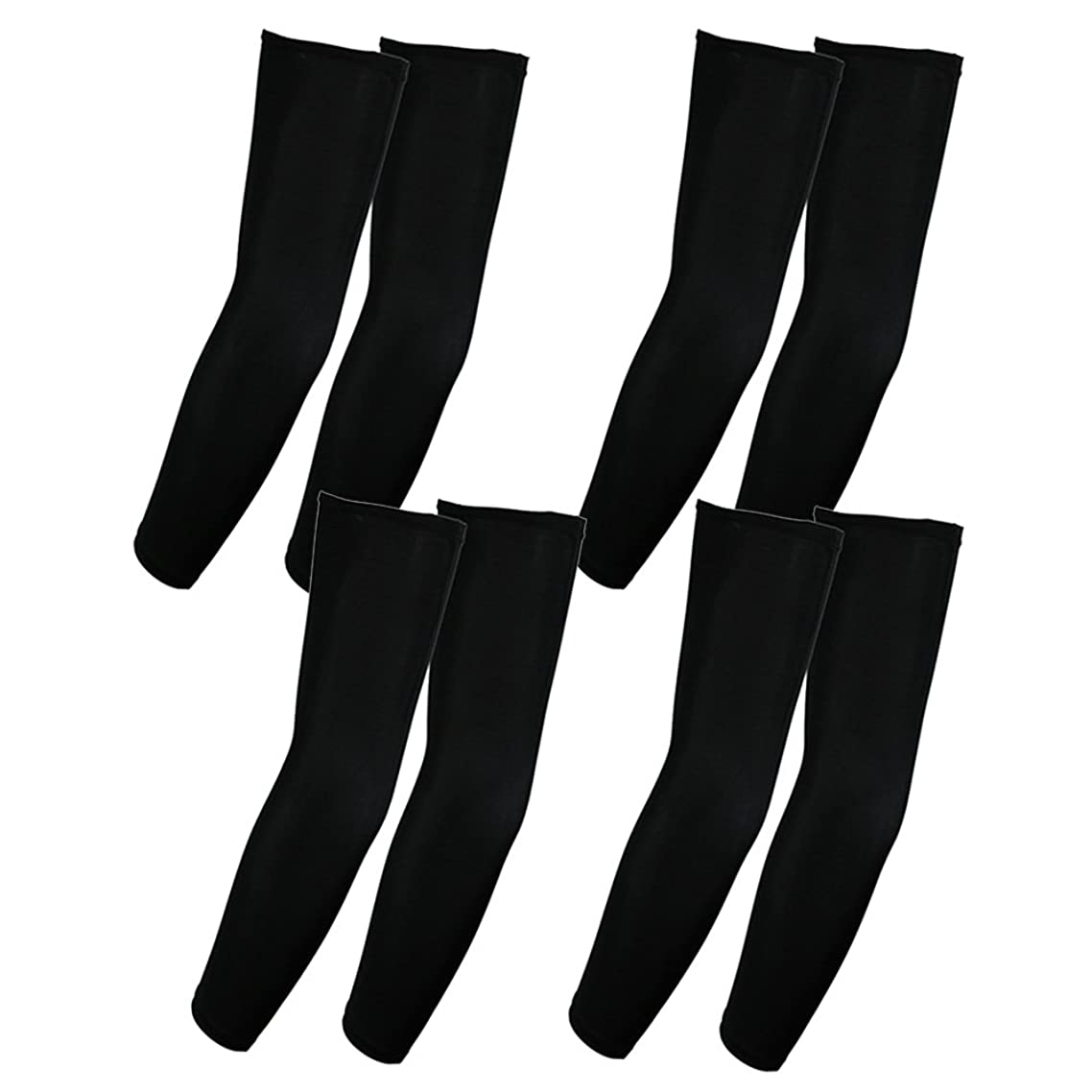 Elixir Golf The 4 Pairs UV Protective Compression Arm Sleeves for Bike Hiking Golf Cycling All Outdoor Activities