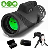 Ocularus Monocular Telescope by Higher Path Products - High Definition Series with Smartphone Accessory Package incl Tripod Hard Case Universal Phone Adapter Holder- 12x50 BAK4 Prism Lens - Rainproof