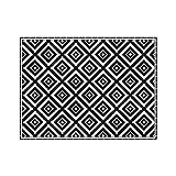 contento Tovaglietta in vinile, 30 x 40 cm, colore: nero/bianco