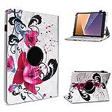 UC-Express Tablet Hülle kompatibel für Vodafone Tab Prime 6/7 Schutzhülle aus Kunstleder Tasche mit Standfunktion 360° drehbar Universal Cover Hülle, Farben:Motiv 6