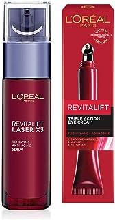 L'Oreal Paris Revitalift Laser X3 Renewing Anti-Ageing Serum, 30ml & L'Oreal Paris Revitalift Laser X3 Transforming Eye Cr...
