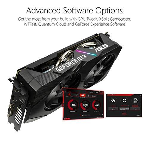 ASUS GeForce RTX 2060 Overclocked 6G GDDR6 Dual-Fan EVO Edition VR Ready HDMI DisplayPort DVI Graphics Card (DUAL-RTX2060-O6G-EVO)