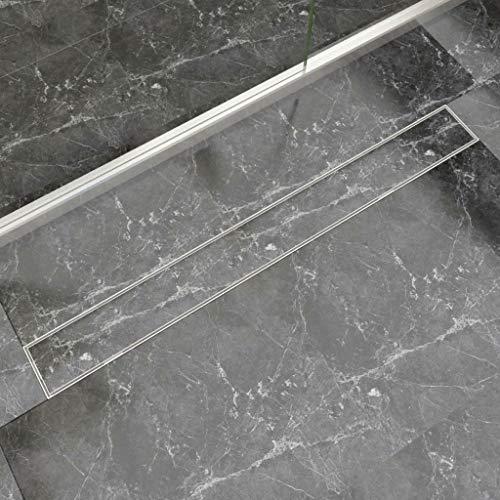 vidaXL Duschrinne Edelstahl Befliesbar 1030x140mm Duschablauf Ablaufrinne