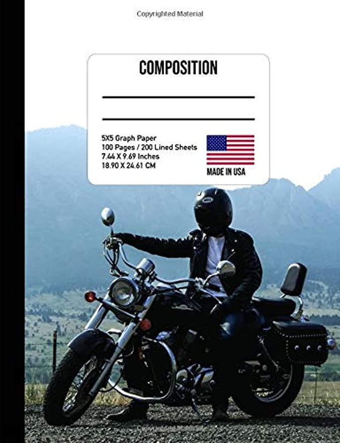 隠救い精神的にComposition Notebook: Motorcycle 4x4 Graph Paper Composition Book Motorbike Notebook Masculine Notebook Teen Boys Notebook