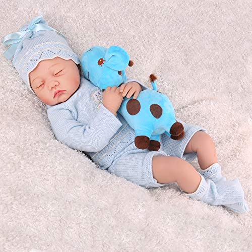 CHAREX Reborn Baby Doll, Realistic Baby Boys, Lifelike Weighted Reborn Baby with Soft Toy for Boys Age 3+