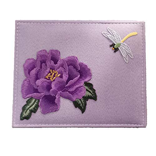 EHDFS Caja de joyería de doble capa bordada vintage caja de joyería para mujeres Navidad San Valentín grande para pendientes, pulseras, anillos, relojes caja