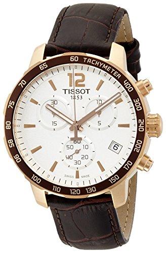 Tissot Herren-Uhren Analog Quarz One Size Leder 86472163