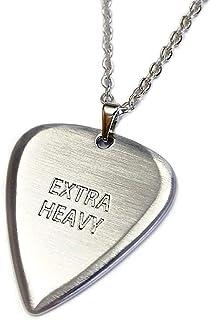 EXTRA HEAVY(エクストラ ヘヴィ) 東京 ギター ピック シルバー ネックレス ペンダント 高級ヘアライン仕上げ Made in Japan 日本製 ティアドロップ ギターピック