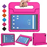 BMOUO Surf Onn 7 inch Tablet Case, Onn 7' Tablet Case for Kids, Shockproof Light Weight Handle Stand Case for Walmart Onn 7 inch Tablet 2020/2019 (Model 100005206/100015685), Rose