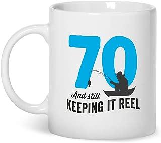 70th Birthday Fishing Gift Mug Present for 70 Men Women 10oz Coffee Mug
