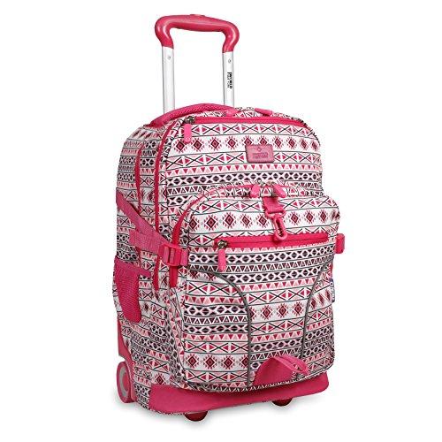 """J World New York Lunar Laptop Rolling Backpack, Skandi Pink, 19.5"""""""
