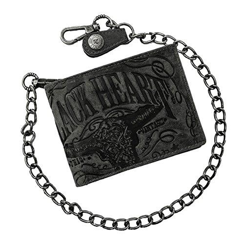 Jack's Inn 54 Börse Spade - Monedero con cadena, color marrón oscuro, Negro , 12 x 9 x 2 cm, Cartera