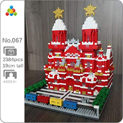 SXCYU Mini Bloques de Diamantes, construcción de Juguete, Arquitectura, Castillo Taj Mahal, Museo del Louvre, Torre Inclinada, Puente de la Torre Khalifa