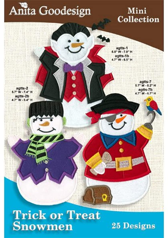 Anita Goodesign Trick or Treat Snowmen Embroidery Deisgns