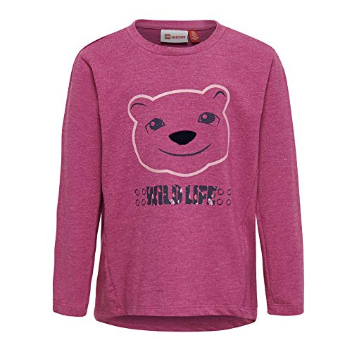 Lego Wear Duplo Girl Lwthelma 601-Langarmshirt T-Shirt À Manches Longues, Rose (Rose 422), 104 Bébé Fille