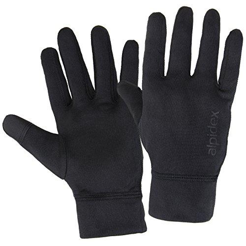 ALPIDEX Laufhandschuhe Leichte Sporthandschuhe Herren Damen Touchscreen Funktion Running Handschuhe, Größe:L, Farbe:Black