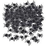 LYTBJ Juego de Accesorios de Disfraces, Mini arañas Artificiales de Halloween, Accesorios de Broma de arañas realistas para casa embrujada, 300 Piezas